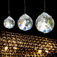 Lot Hanging Crystal Sun catcher Ball Feng Shui Rainbow Prism Sphere wind Chime