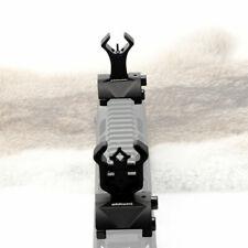 Black Tactical Flip Up Front Rear Sight Sights Set Iron Diamond Apertures