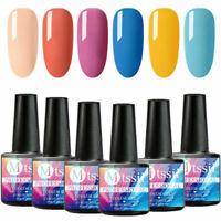 MTSSII 6Bottles Gel Nail Polish Kit UV/LED Gel Soak Off Nude Gel Varnish Set 8ml