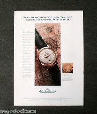 [GCG]  P530 - Advertising Pubblicità -1996- JAEGER LE COULTRE MASTER DATE