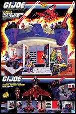 Hasbro 1986 G.I. Joe Cobra Terror Drome > Cobra Commander Poster Print 🔥😎🔥