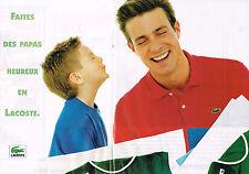 PUBLICITE ADVERTISING 114  1995  LACOSTE   polos pour homme & enfant ( double pa