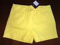 NWT 8 $$$ Kanya Yellow Cotton Shorts $44+ Chasing Fireflies LAST Pair