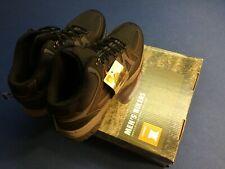 Ozark Trail men's hikers, leather, dual density sole, lightweight, black & grey