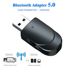 2 in1 Bluetooth 5.0 USB Transmitter Receiver Audio 3.5mm Jack Adapter For TV PC.