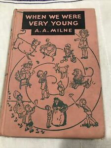 When We Were Very Young  by A.A. Milne VTG 1950 Pooh book