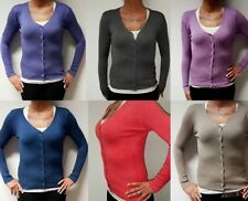 Größe 36 Damen-Pullover & -Strickware ohne Muster mit Knöpfen