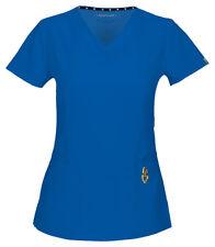 HeartSoul Women's New Beloved Patch Pocket Short Sleeve V Neck Scrub Top. 20972A