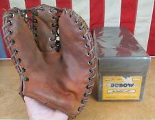 Vintage 1950s Dubow Leather Baseball Glove Mitt Gil Hodges Model w/Original Box