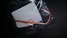 """New Fish Hook Clip for Hats or Ties, Copper Colored and 2 1/2"""" Long."""