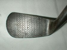ANTIQUE VINTAGE OLD SCOTTISH STEWART FF IRON HICKORY WOOD WOODEN SHAFT GOLF CLUB