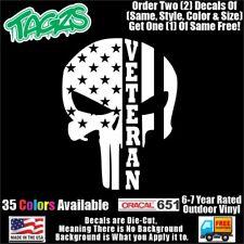 Punisher Veteran Diecut Vinyl Window Decal Sticker Car Truck Suv Jdm