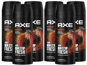 Deo Axe Moschus 6 x 150ml Deospray Deodorant Bodyspray ohne Aluminium Herren Men