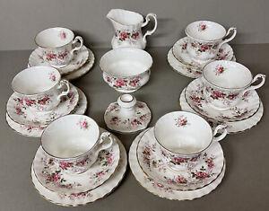 Royal Albert Lavender Rose 21 Piece Tea Set