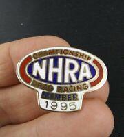 Vintage 1995 NHRA Drag Racing Member Button Pin Pinback *EE75