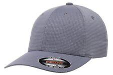 6587 Flexfit® Hydro Grid Cap Fitted Baseball Blank Plain Ball Cap Flex Fit