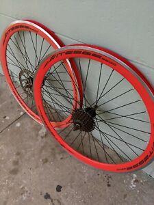 "Vitesse 2600 Bike Rims Bicycle 26"" wheels set 3/8 axel"