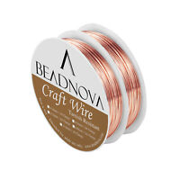 2 Rolls Pack BEADNOVA Tarnish Resistant Bare Copper Wire For Jewelry Making