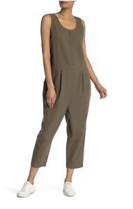 Eileen Fisher Organic Cotton Crepe Jumpsuit L