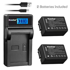 Kastar DMWBMB9 Battery + Charger for Panasonic Lumix DC-FZ80 DMC-FZ40K FZ45 FZ47
