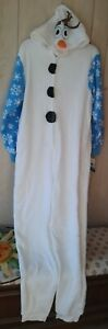 NEW Frozen Olaf Women's Pajamas Pj's One Piece Disney XL Christmas PJ'S