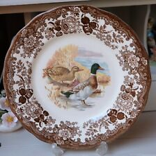 Vintage Royal Worcester Palissy Game Series Duck Wall Decorative Plate 10""