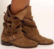 Maje Kriminel Brown Suede Slouchy Boots US 7 / 38 Made in Spain Boho Steampunk