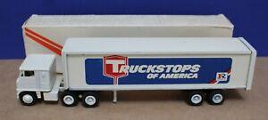 Winross 1:64 White 7000 Semi Tandem Axle Truckstops of America VNM Boxed 1973