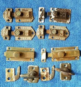 15 Victorian Antique Latch Locks, Bolts, Turn Latches & Keepers