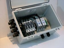 4-String Solar Combiner Box with Fuse Holders, MC4 & Lightning/Surge Module