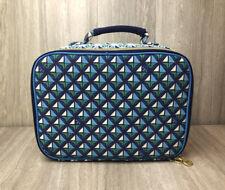 Tory Burch Make Up Bag Lunch Box Neiman Marcus Target Blue Green Geometric