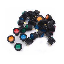 20X 12V  Lighted Round Rocker Toggle Switch Car Truck RV Boat ATV Home fu