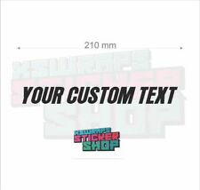 2 x CUSTOM TEXT vinyl decal sticker car van window shop
