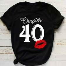 40th Happy Birthday Gift Black T Shirt For Mens Vintage  Retro Size XL SALE!!