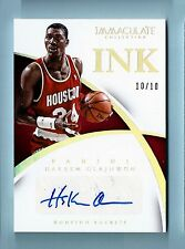 HAKEEM OLAJUWON 2014/15 PANINI IMMACULATE COLLECTION INK AUTOGRAPH AUTO # 10/10