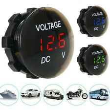 12V-24V Car Motorcycle Waterproof Mini LED Digital Display Voltmeter Universal