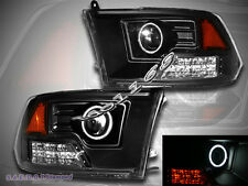 09 10 11 12 DODGE RAM 1500 2500 3500 PROJECTOR CCFL HALO LED HEADLIGHTS PICKUP