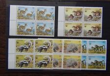 Lesotho 1977 Animals set in block x 4 MNH