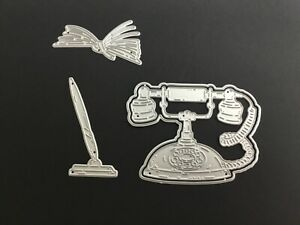 Metal Cutting Dies, telephone, works wi carnation crafts vernal blooms telephone