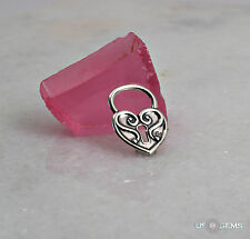 925 Sterling Silver Padlock Heart pendant. US@GEMS