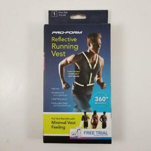 New Pro-Form Safety Reflective Running Vest Strap Only Vest Design Minimal Feel