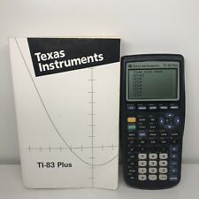 Texas Instruments TI-83 Plus Graphing Calculator Math Science SAT  With Manual