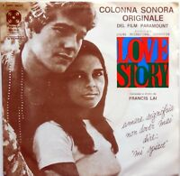 DISCO VINILE 45 GIRI FRANCIS LAI LOVE STORY SKATING CENTRAL PARK ITALY 1971