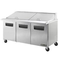 "Blue Air BAMT72 Three 3 Door Mega Top Sandwich Prep Table 72"" Refrigerator"