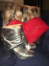 Urban Outfitters Space Ace Silver Booties