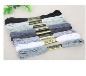 Cross Stitch Embroidery Thread Floss DIY Sewing Craft Tool Kit New 8pcs 7 Colors