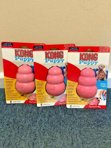 Kong Puppy Healthy Chewing Dogs Natural Teething Rubber Insert Treats Large x3