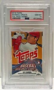 2018 Topps Update Baseball Possible Acuna Soto Gleyber Hobby Sealed Pack PSA 10