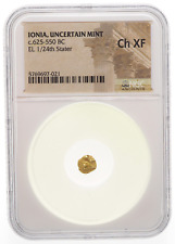 New ListingIonia, Uncertain. Electrum 1/24th Stater, 625-550 B.C. Ngc Ch Xf