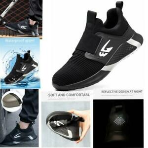 Men's Safety Trainers Women Lightweight Steel Toe Cap Work Boots Hiking Shoes